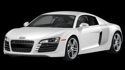 White Audi R8 PNG Image