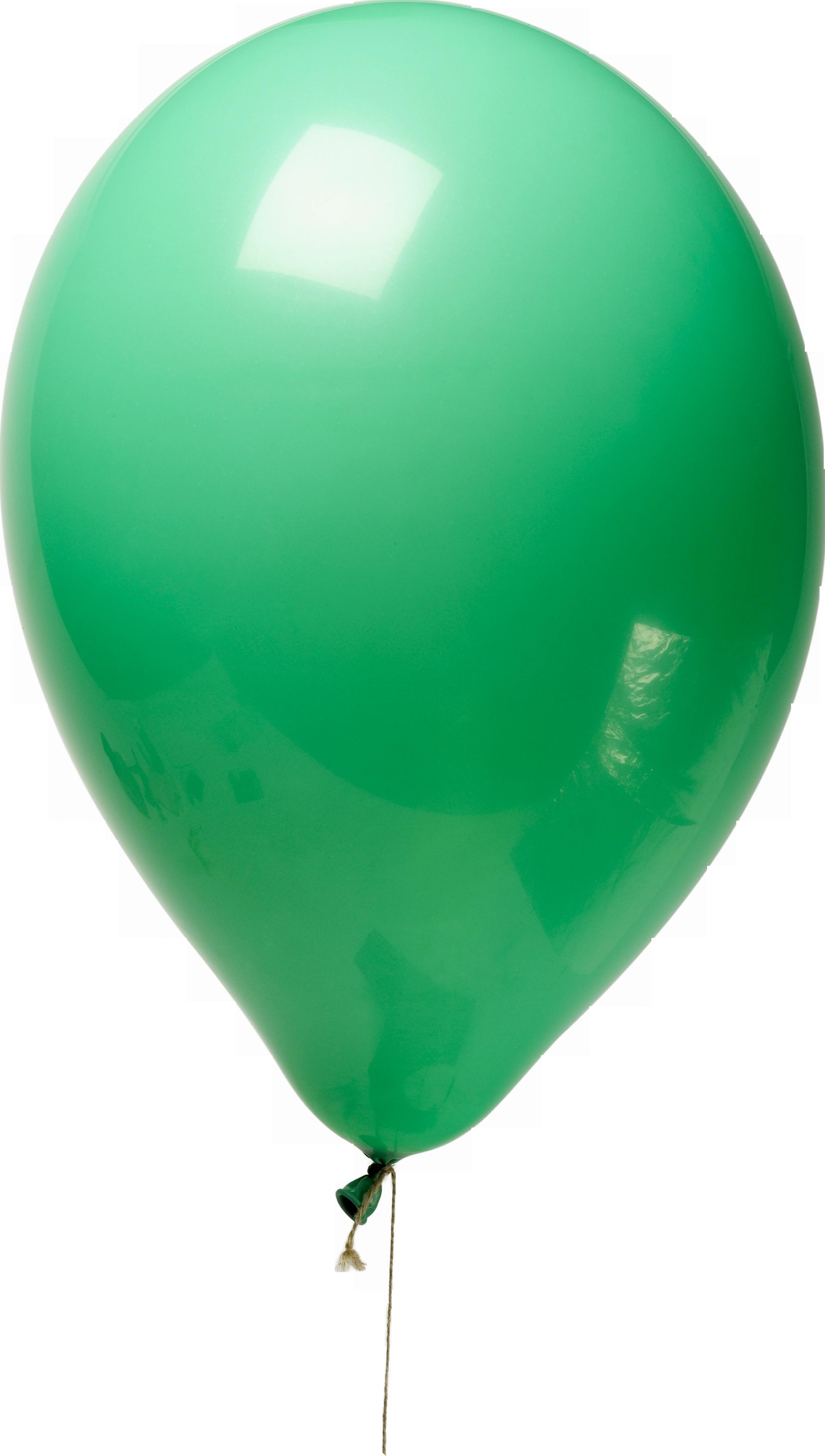 Зеленый воздушный шарики PNG фото