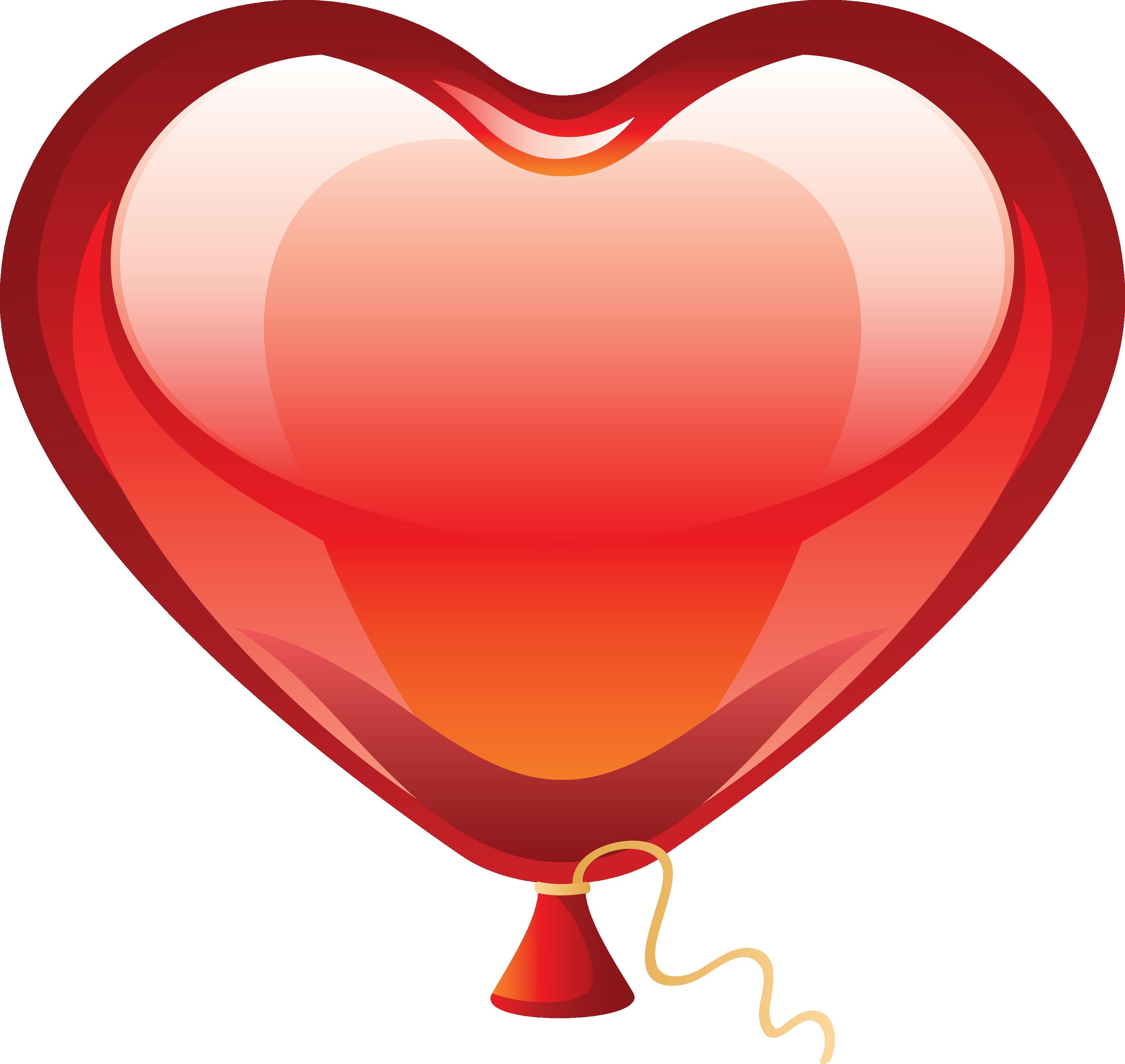 Воздушные шарик сердце PNG фото
