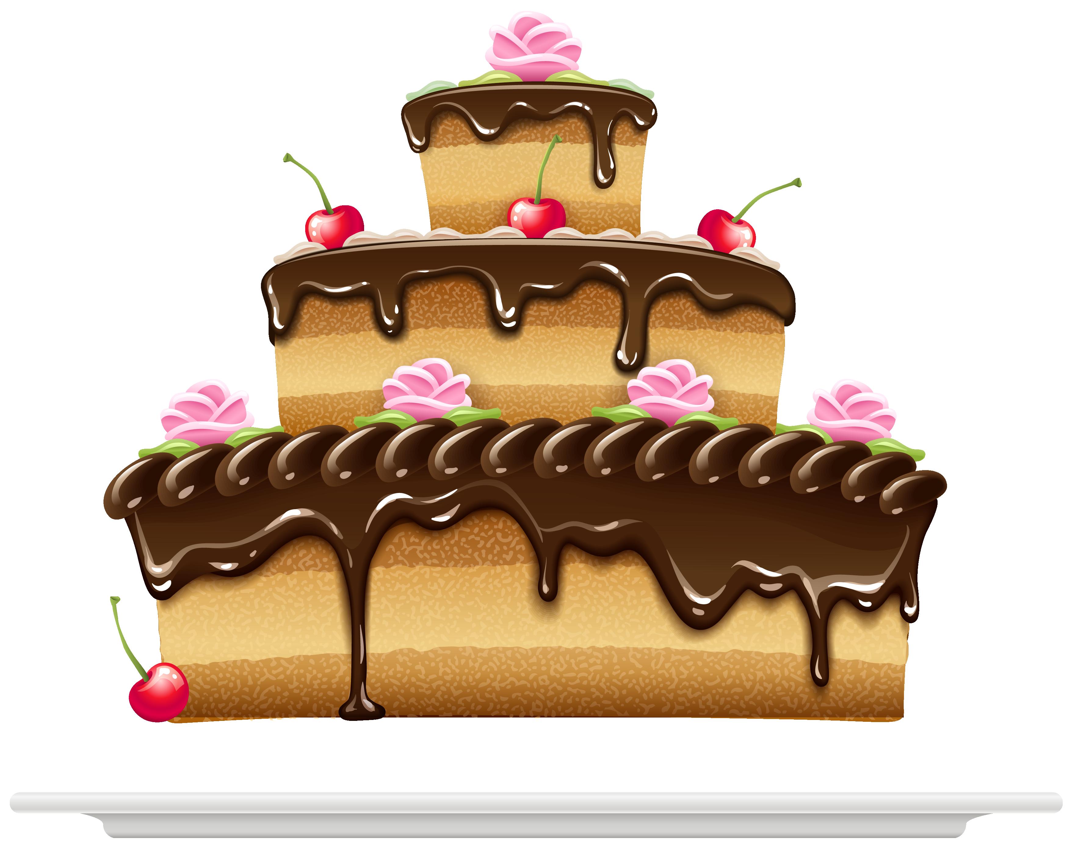 Клипарт торт нарисованный
