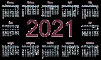 Календарь 2021 года PNG