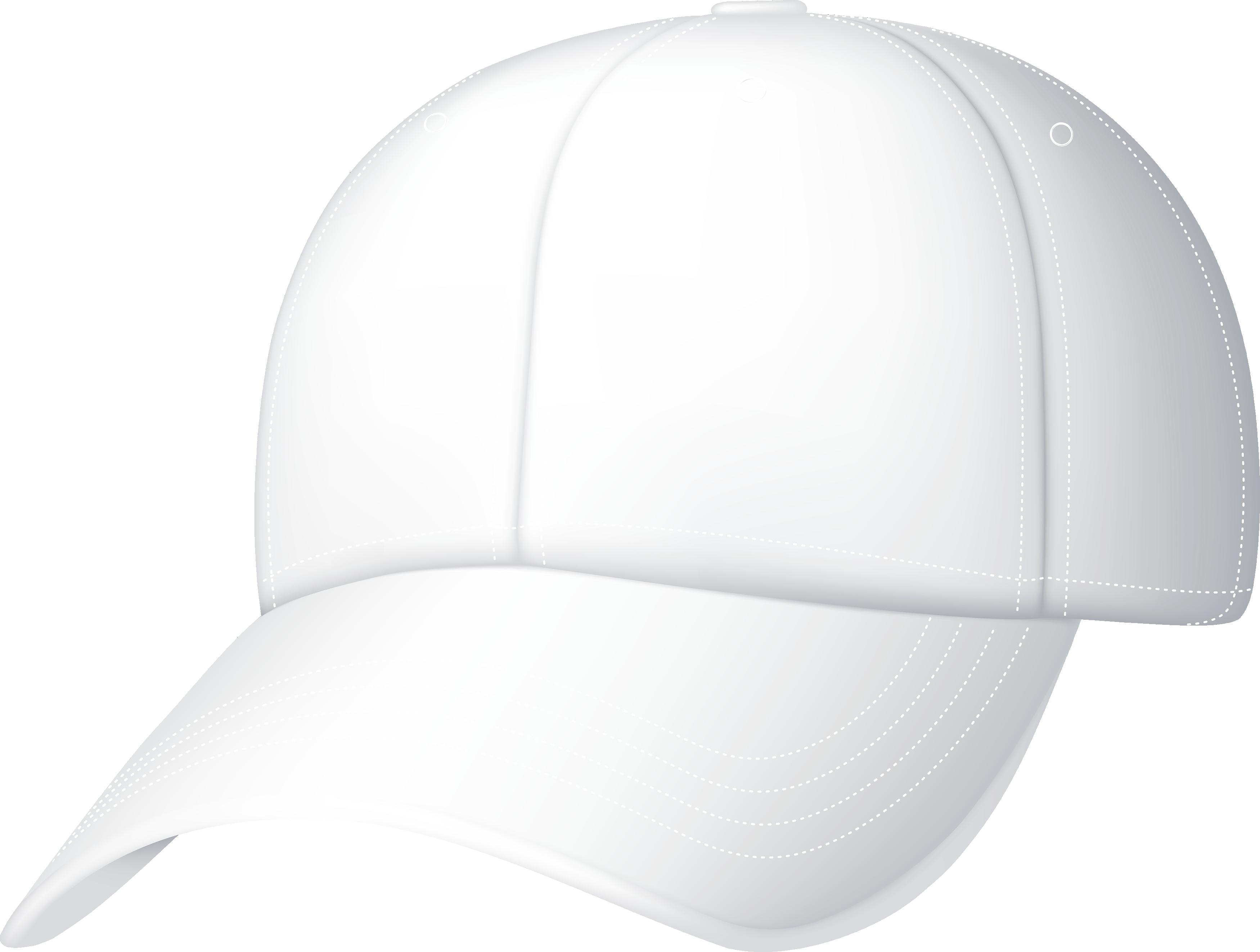 Белая бейсбольная кепка