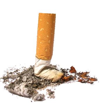 Потушенная сигарета PNG фото скачать