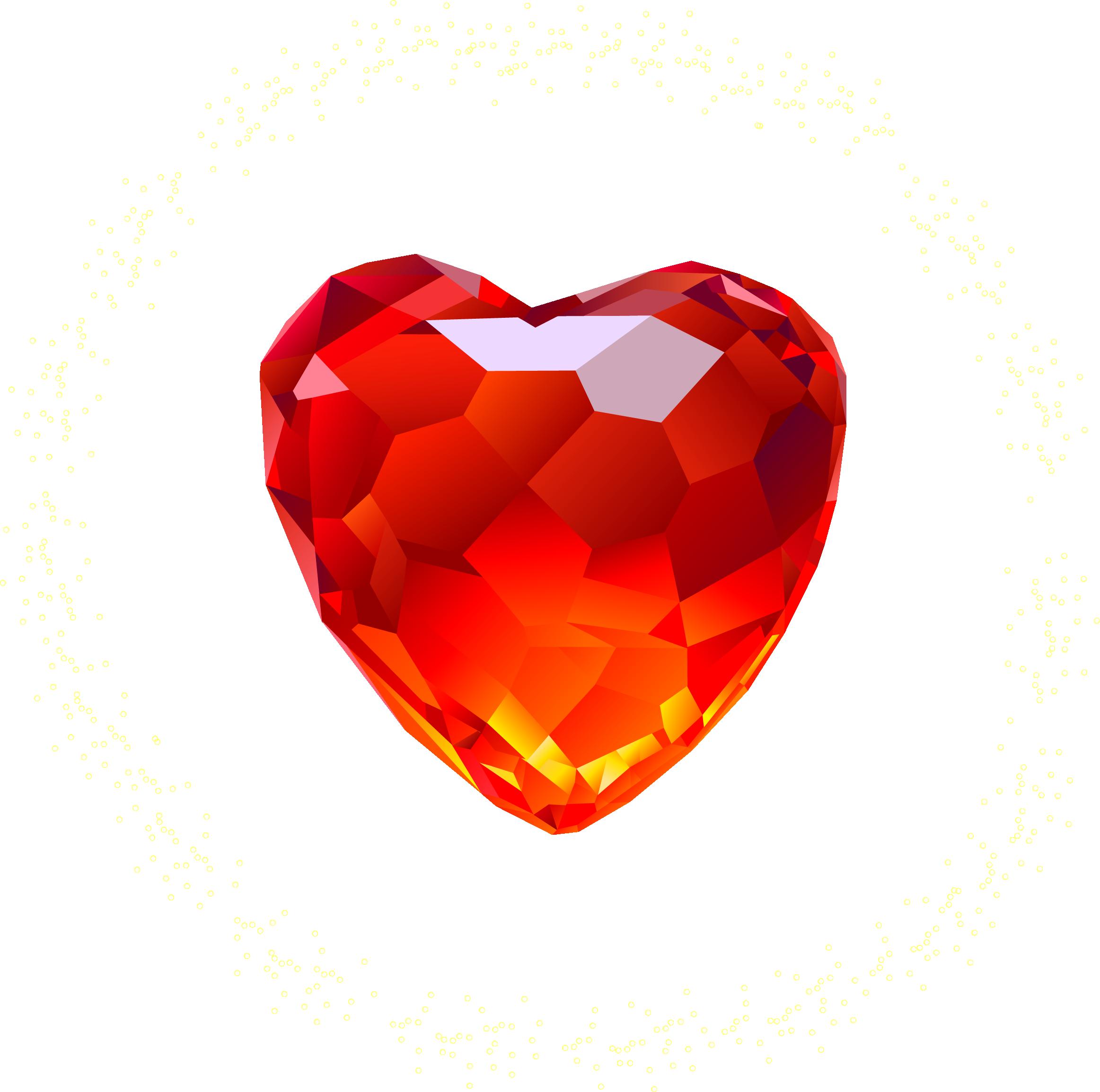 Бриллиант сердце PNG фото