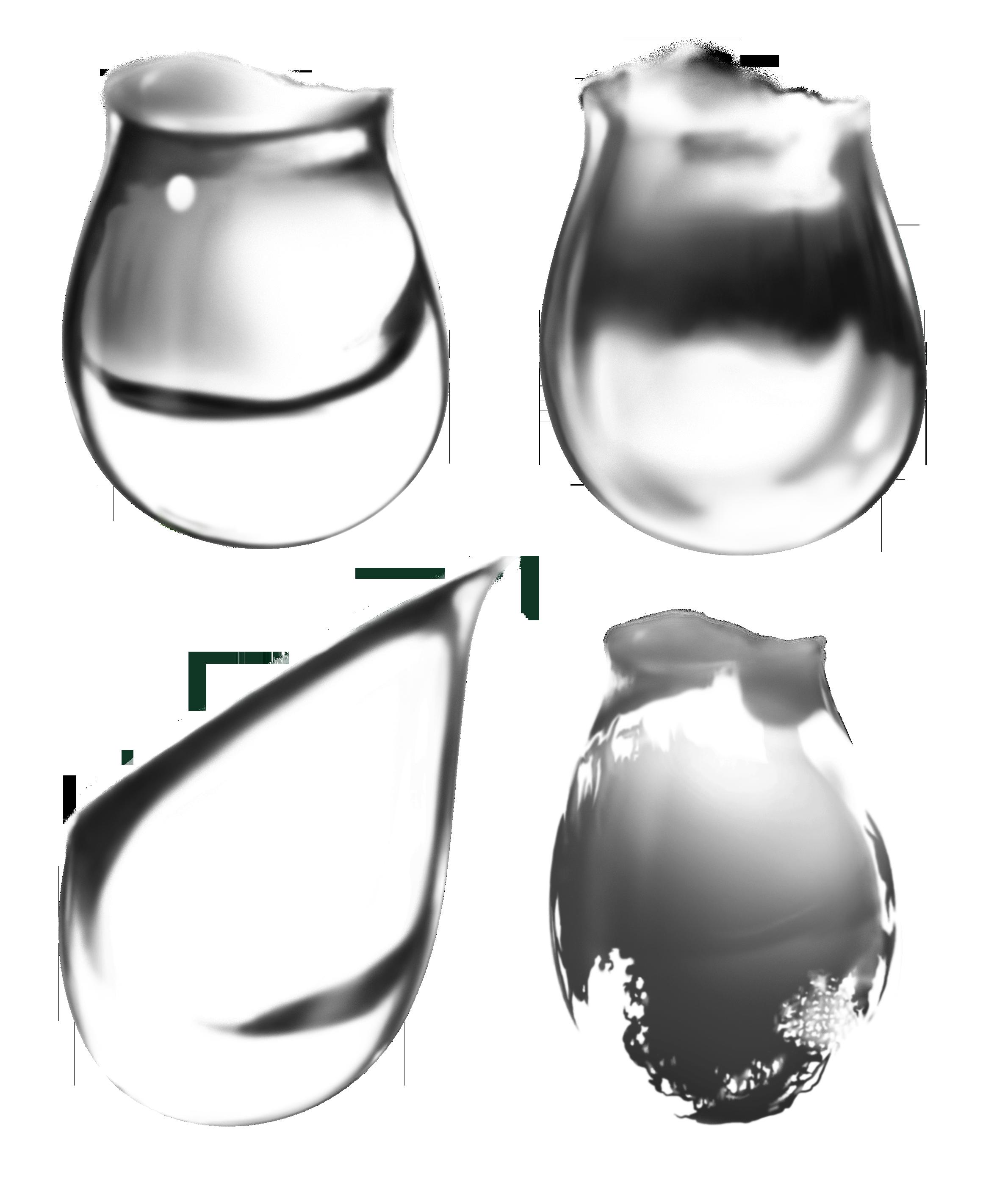 Капли воды PNG