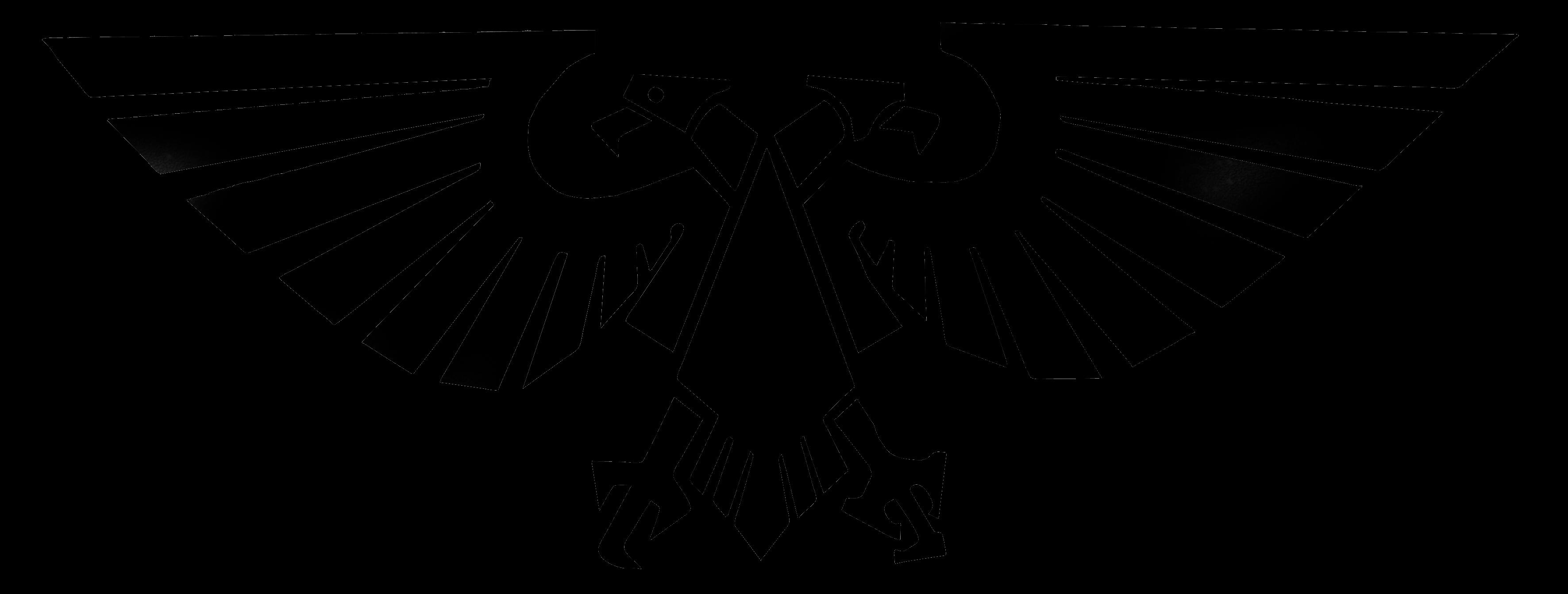 Eagle black logo PNG image, free download