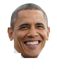 Лицо Барак Обама PNG фото