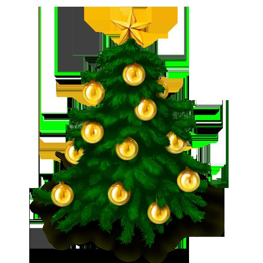 Christmas fir-tree PNG image
