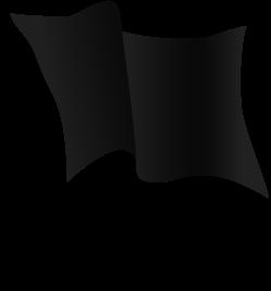 черный флаг PNG
