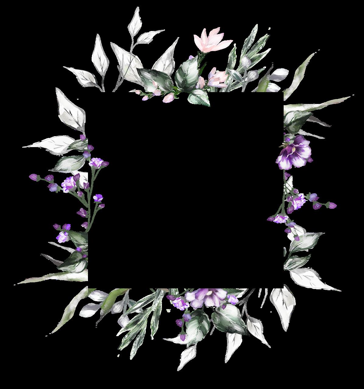 Цветочная рамка PNG