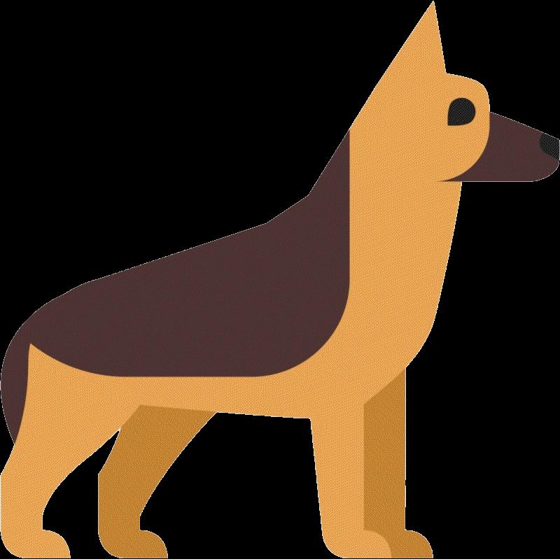 Немецкая овчарка PNG