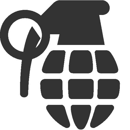 Граната силуэт лого PNG фото