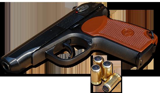 Makarov russian handgun PNG image
