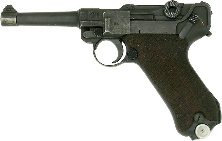 Пистолет Люгер PNG фото
