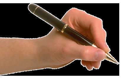 Ручка в руке PNG фото