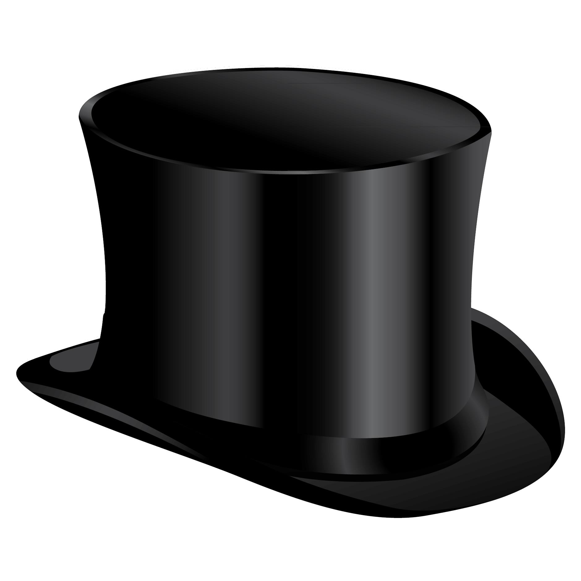 Black cylinder hat PNG image