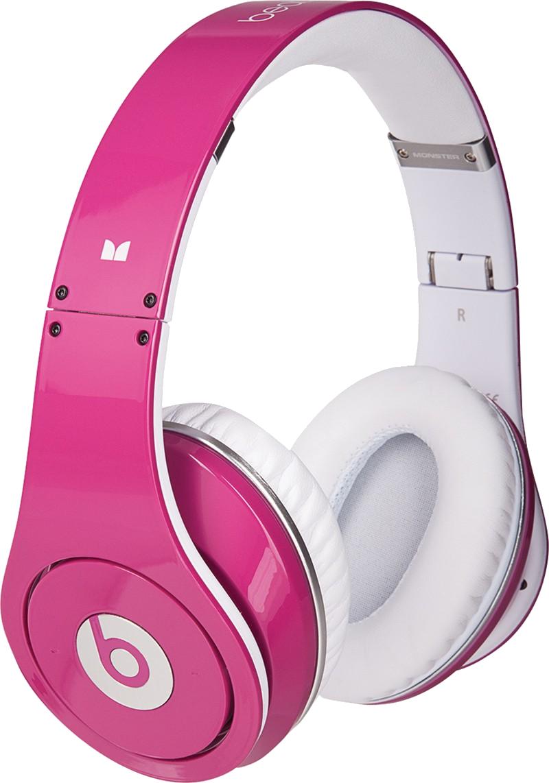Pink headphones PNG image