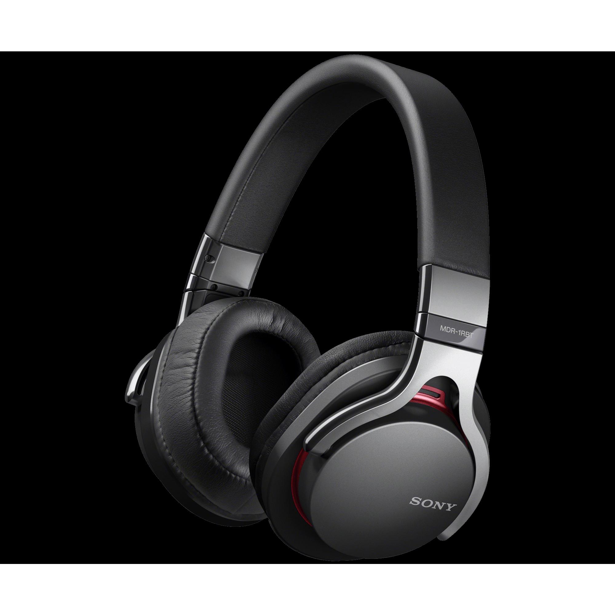 Black headphones PNG image