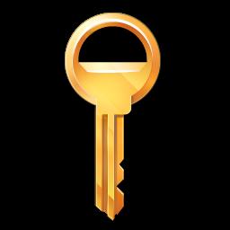 golden key PNG image, free