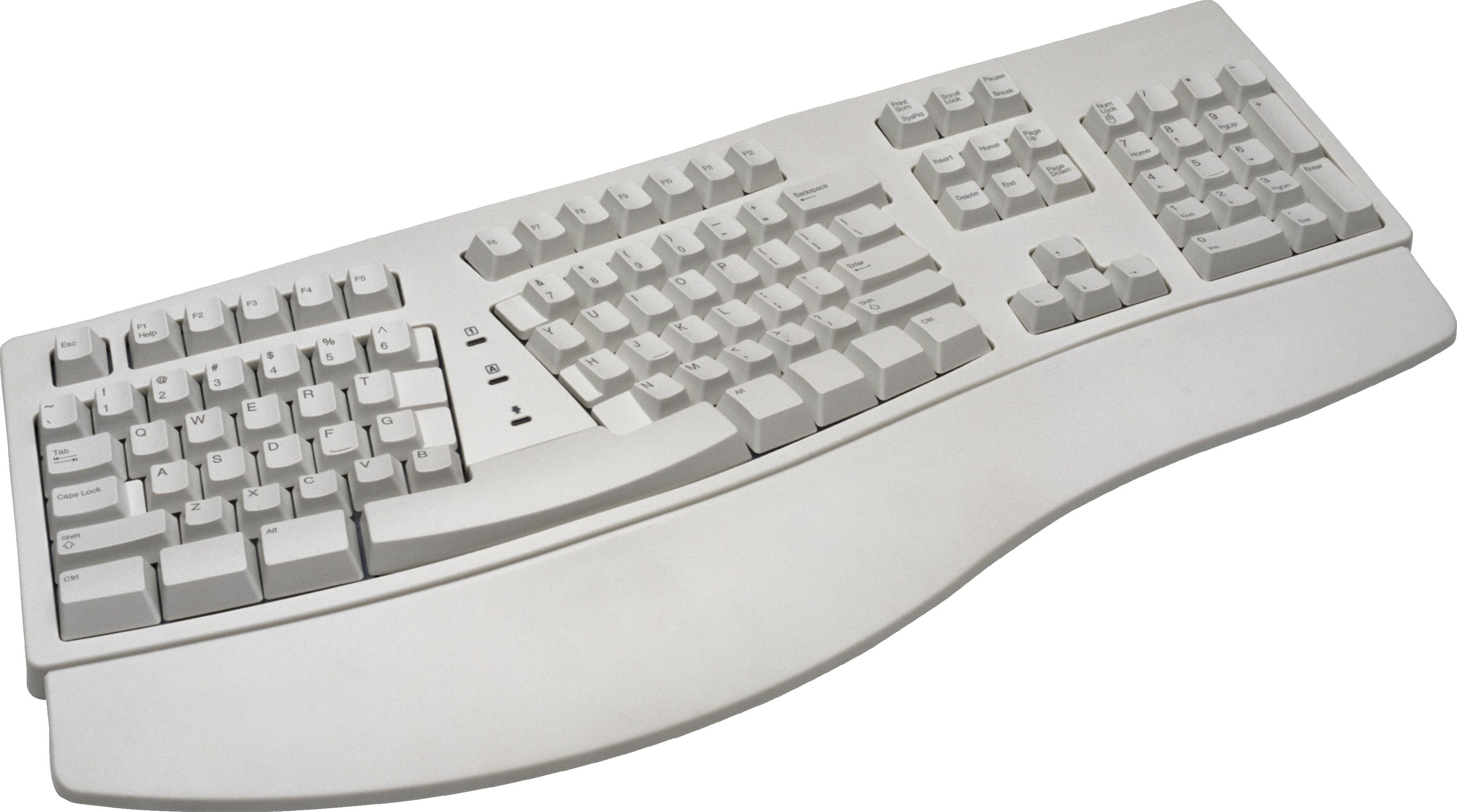 Белая клавиатура PNG фото