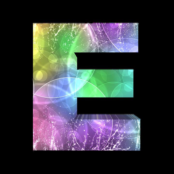 Буква E PNG