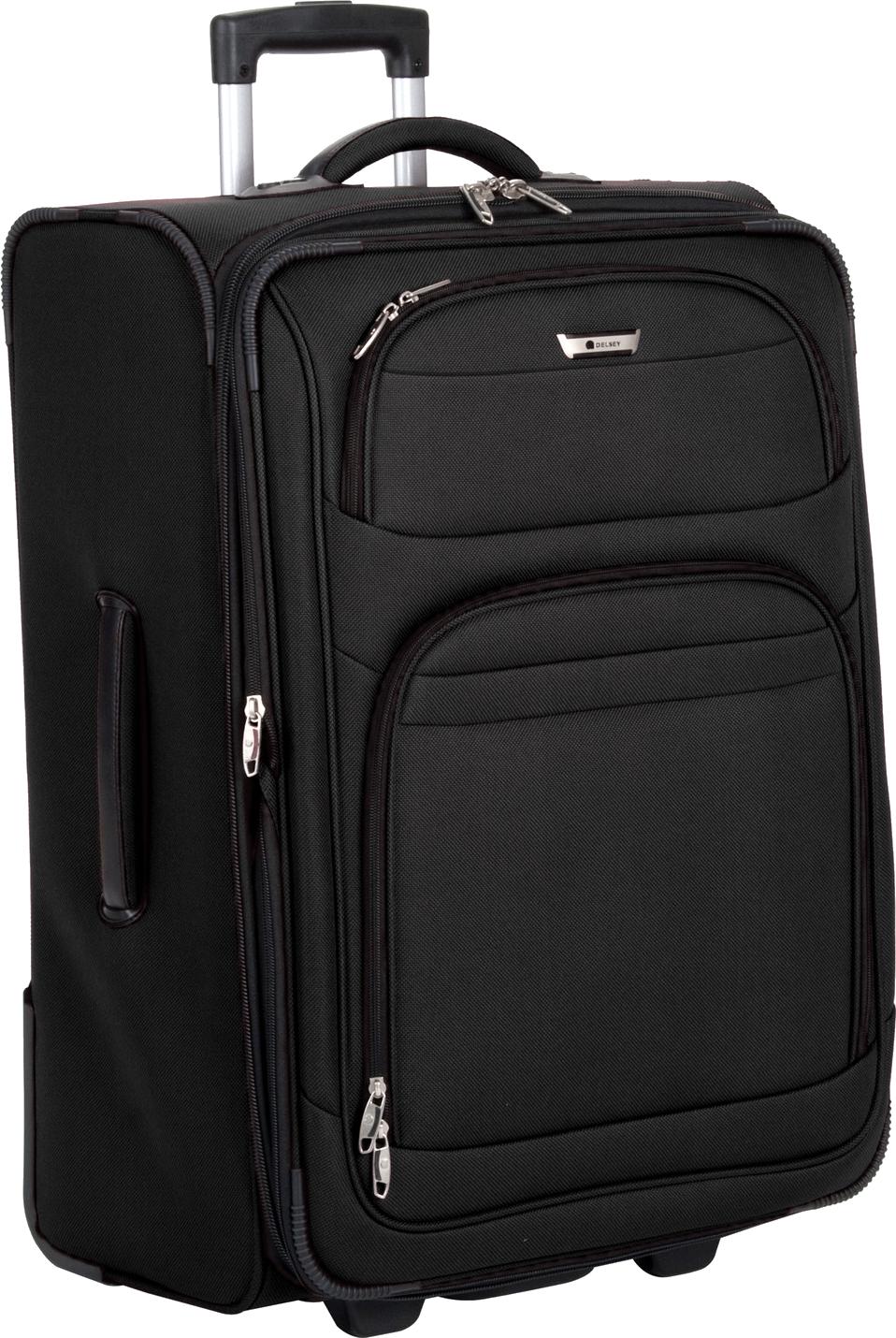 Black luggage PNG image