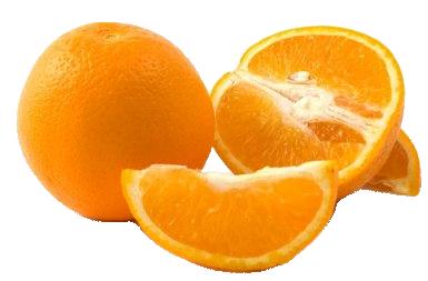 Разрезанный апельсин PNG фото
