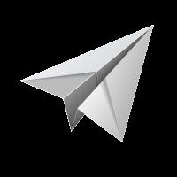 Бумажный самолетик PNG