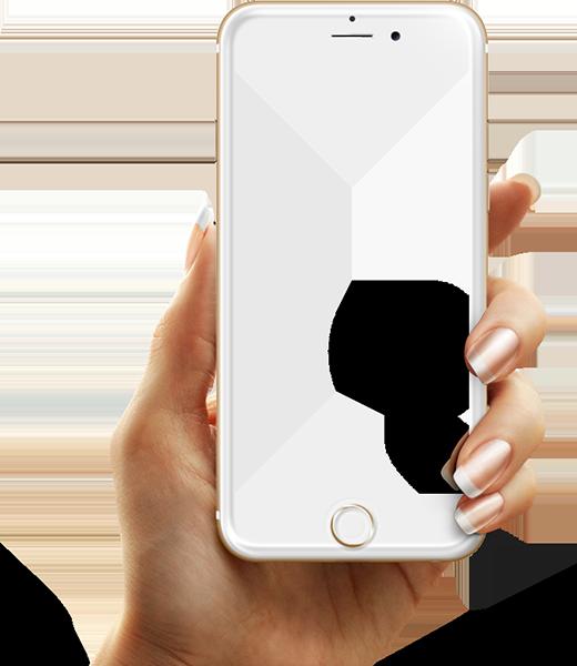 Телефон в руке PNG