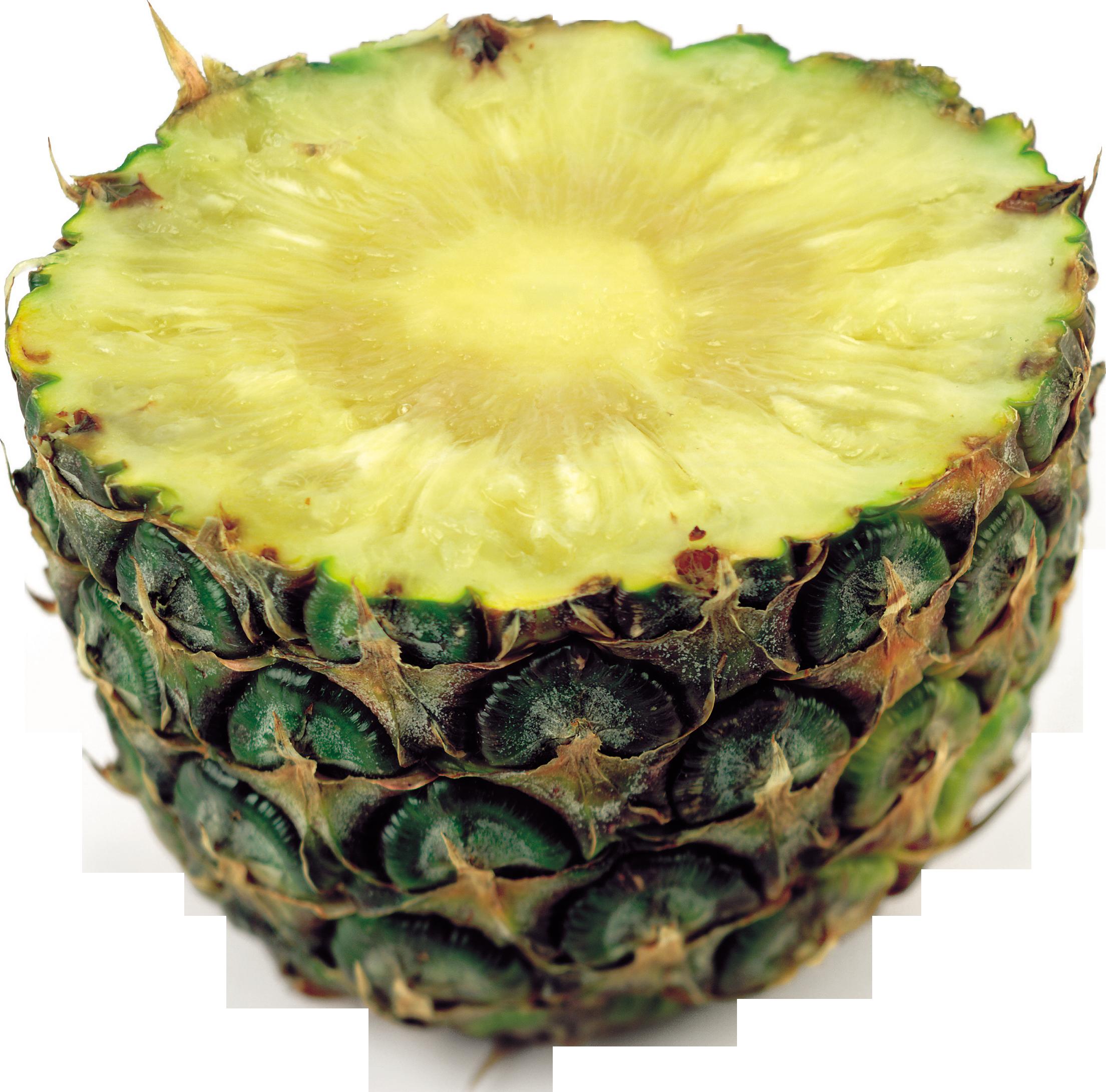 Half pineapple PNG image