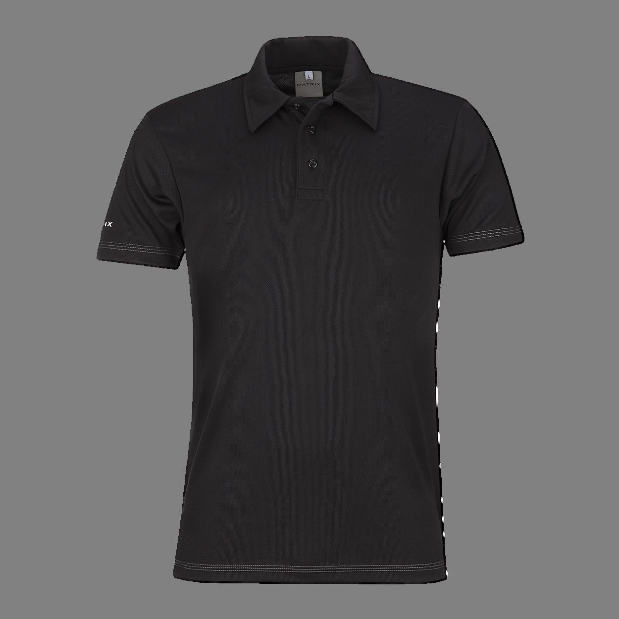 Black polo shirt PNG image