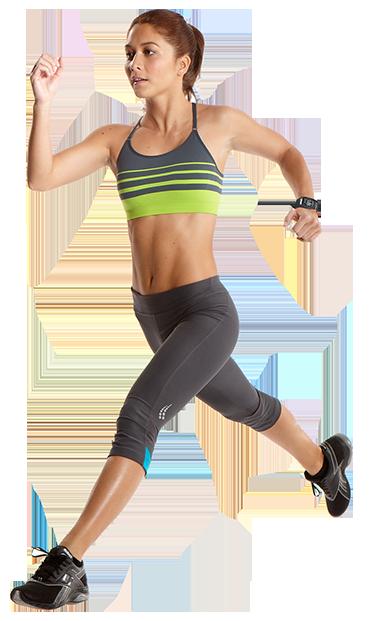 Running girl PNG image