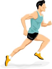 Runner man PNG image