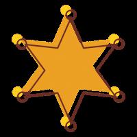 Шериф значок PNG