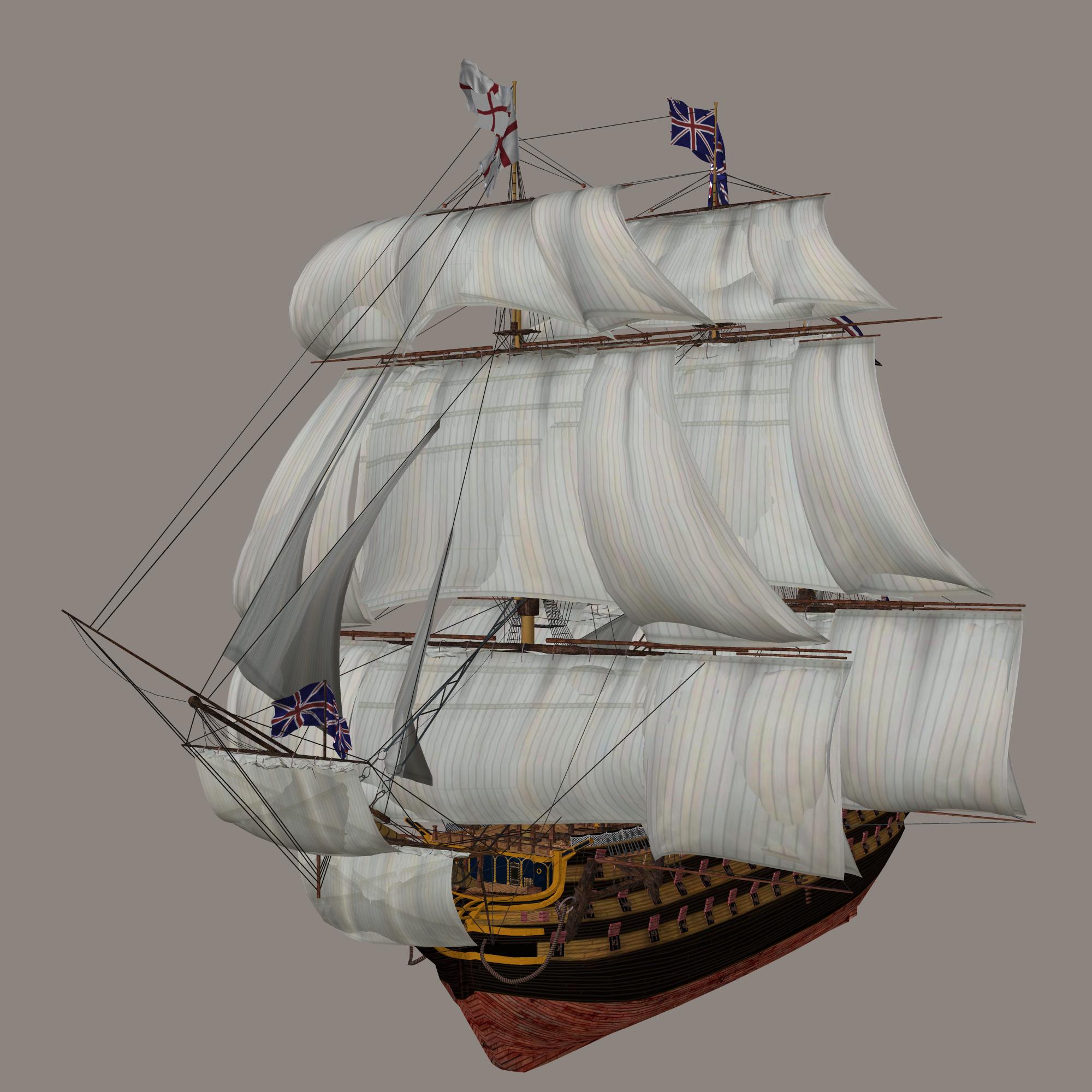 Парусный корабль PNG фото