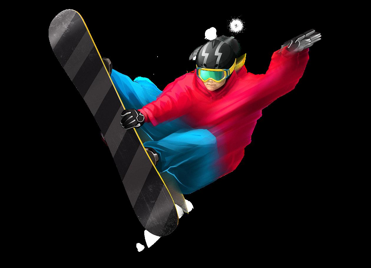 Человек на сноуборде PNG фото