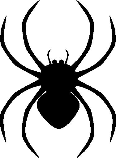 Черный силуэт паука PNG фото