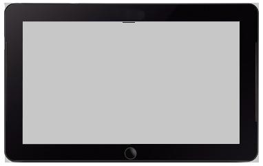 Планшет прозрачный PNG фото