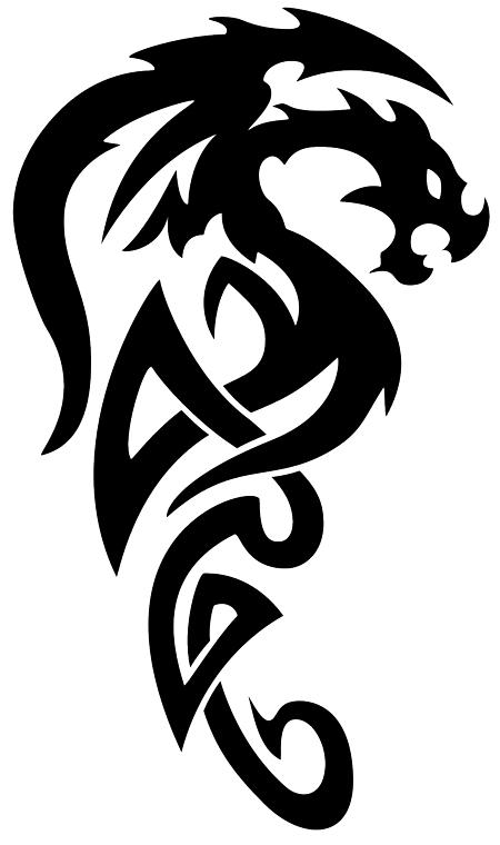 Татуировка дракон PNG фото