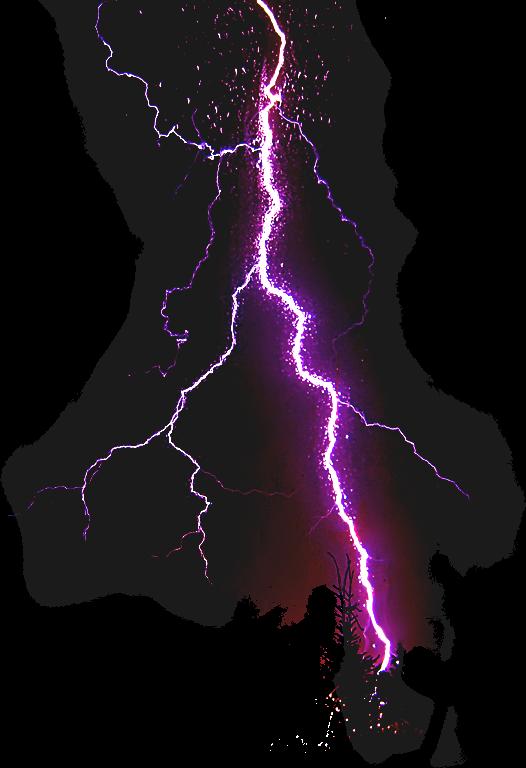 Гром и молния PNG