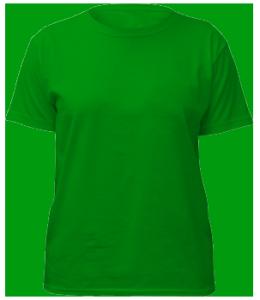 Зеленая футболка PNG фото