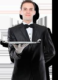 Официант PNG