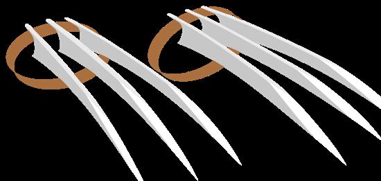 Росомаха когти PNG