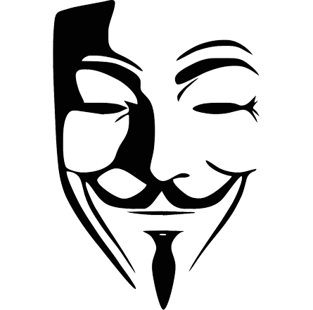 Guy Fawkes mask PNG