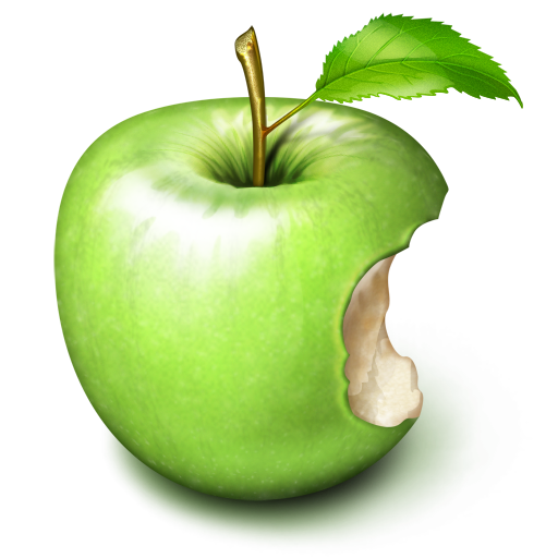 Bitten apple PNG