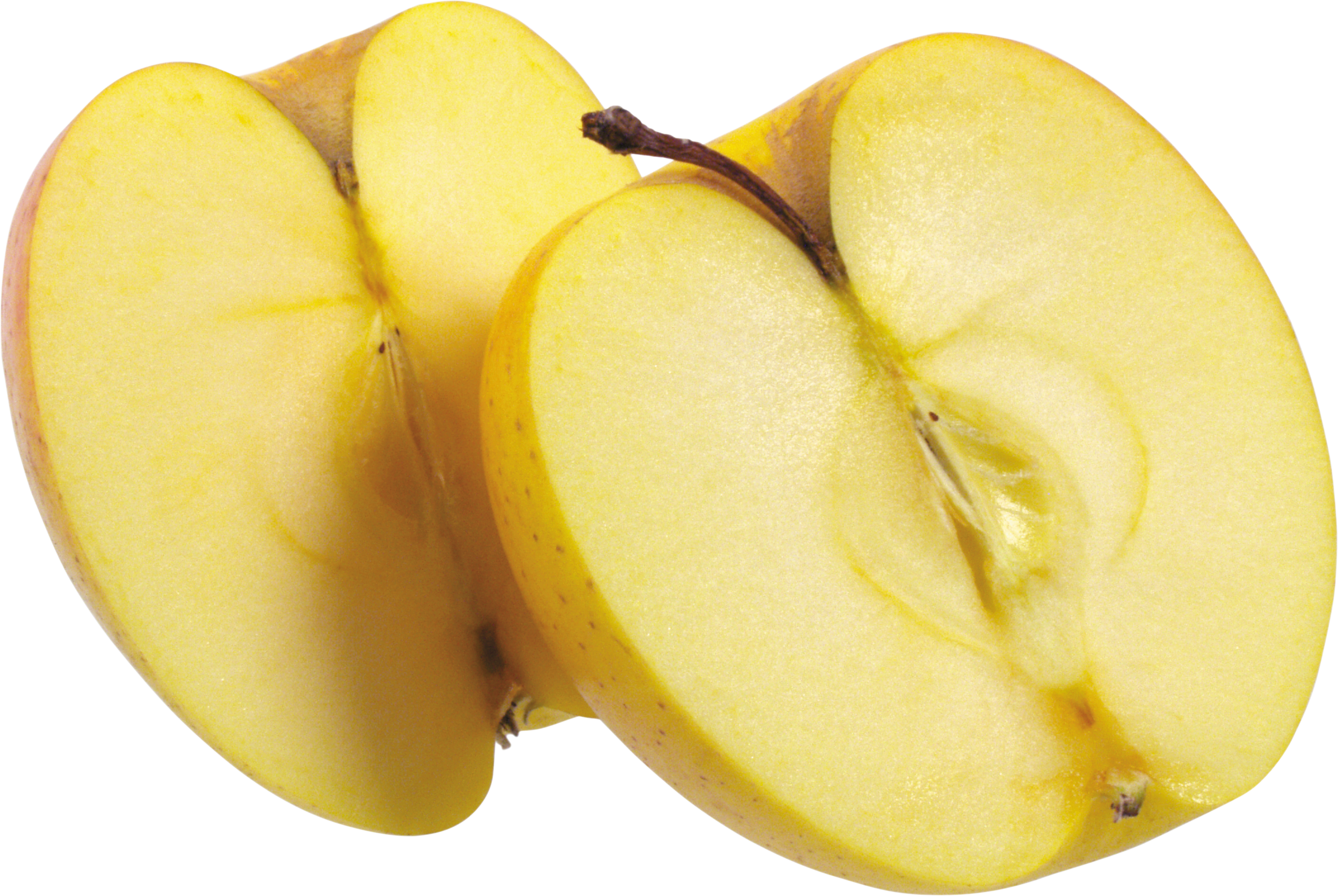 Cut apple PNG
