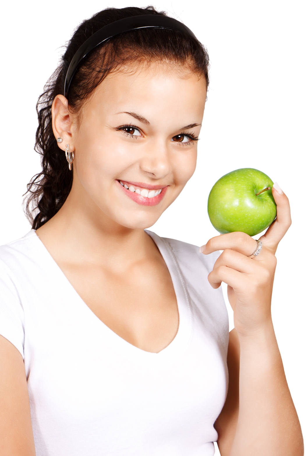Apple in hand PNG