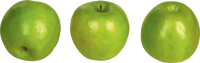 Green apples PNG