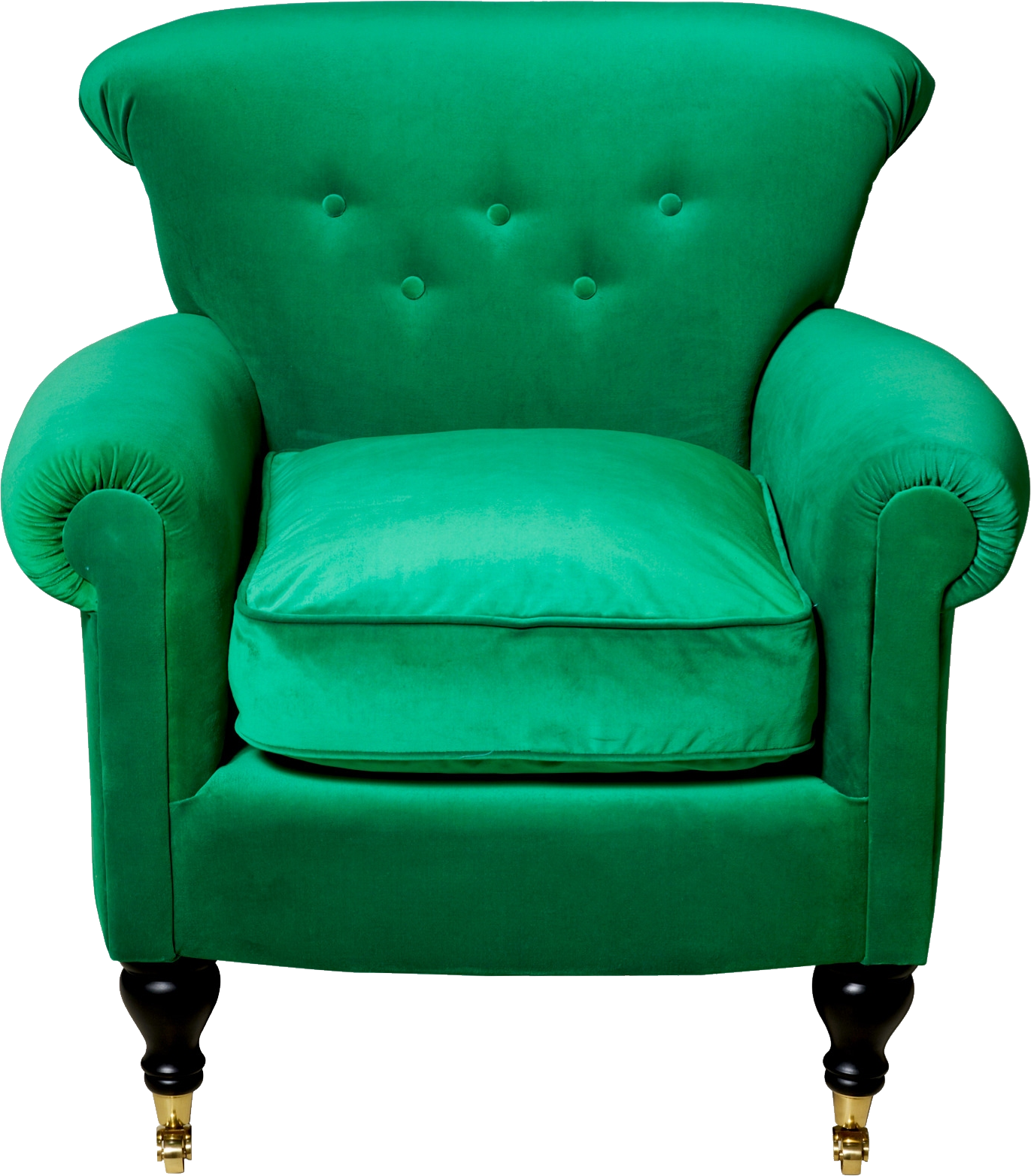 Green armchair PNG image