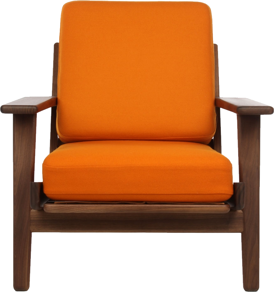 Orange arm chair chairs seating for Outdoor furniture launceston